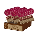 Pomegranate Lemongrass Gourmet  Lollipops: 24 Pack Display