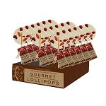 Raspberry Goji Gourmet Lollipops: 24 Pack Displays