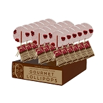 Raspberry Maqui Gourmet Lollipops: 24 Pack Display