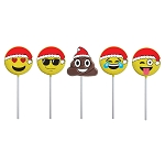 Holiday Red Hat Emoticon Lollipops: 12 Pack
