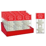 Snowflake Marshmallow Toppers: (18) 2 Pack Caddy
