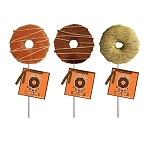 Marshmallow Harvest Doughnut Lollipops: 12 Pack