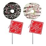 Marshmallow Peppermint Doughnut Lollipops: 12 Pack