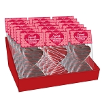 Chocolate Heart Marshmallow Toppers: (18) 2 Pack Caddy