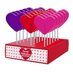 Valentine Medium Heart Lollipops: 24 Pack Display