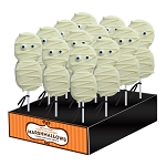Halloween Marshmallow Mummy Lollipops: 12 Pack Display
