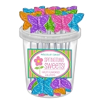 Mini Butterfly Lollipops: 30 Pack Bucket