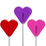 Valentine Mini Heart Lollipops: 24 Pack