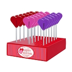 Valentine Mini Heart Lollipops: 24 Pack Display