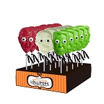 Monster Head Lollipop Cones: 24 Pack Display