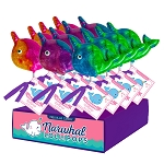 Glitter Swirl Narwhal Lollipops: 24 Pack Display