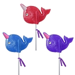 Sugar Horn Narwhal Lollipops: 12 Pack