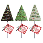 Holiday Drizzle Crispy Rice Trees: 12 Pack