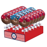 Patriotic Doughnut Lollipops: 24 Pack Display