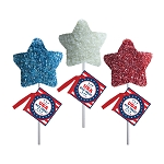 Patriotic Crispy Rice Stars: 12 Pack