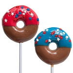 Patriotic Doughnut Lollipops: 12 Pack