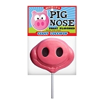 Giant Pig Nose Lollipop Masks: 6 Pack Peg