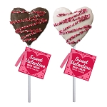 Chocolate drizzle Crispy Rice Hearts: 12 Pack