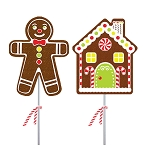 Gingerbread Boy & Home Lollipop Assortment: 12 Pack
