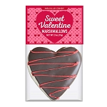 Dark Chocolate Heart Marshmallow Toppers: (12) 1 Pack Bag