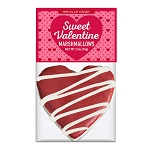 Red Velvet Heart Marshmallow Toppers: (12) 1 Pack Bag