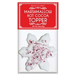 Peppermint Snowflake Marshmallow Toppers: (24) 1 Pack Bags