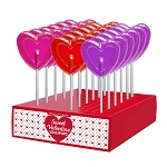 Valentine Small Heart Lollipops: 24 Pack Display