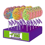 Sour Dinosaur Egg Lollipops: 24 Pack display