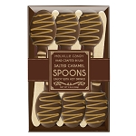 Salted Caramel & Chocolate Dipped Spoons: (3) 6PK Kraft Gift Sets