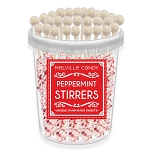 White Chocolate Peppermint Stirrers: 30 Pack Bucket