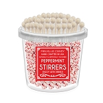 White Chocolate Peppermint Stirrers: 50 Pack Bucket