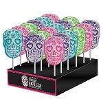 Frosted Sugar Skull Lollipops: 24 Pack Display