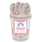 Unicorn White Chocolate Dipped Spoons: 30 Pack Bucket