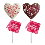Chocolate Confetti Crispy Rice Hearts: 12 Pack