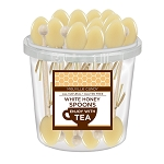 White Honey Spoons: 50 Pack Bucket