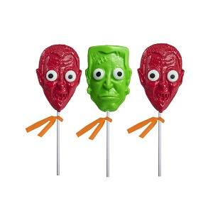 Monster Head Lollipop Cones: 24 Pack