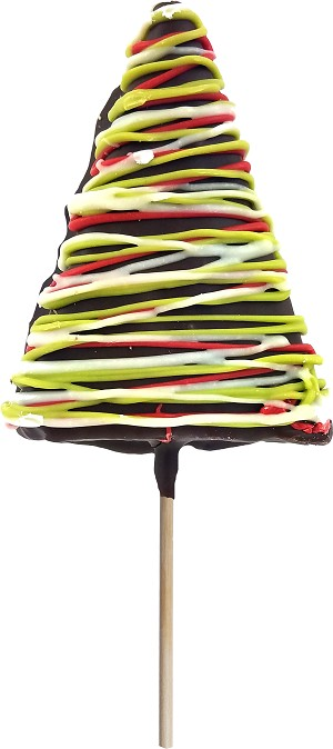 Chocolate Dipped Rice Treat Holiday Bar Lollipop: 24 Pack