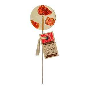 Strawberry & Champagne Cocktail Lollipops: 24 Pack