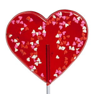 Giant Confetti Heart Lollipops: 12 Pack