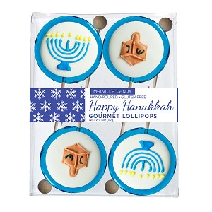 Kosher Royal Iced Hanukkah Lollipops: 3 Acetate Gift Sets