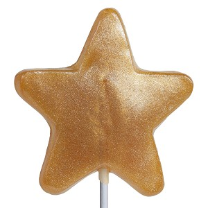 Gold Honey Star Lollipops: 24 Pack
