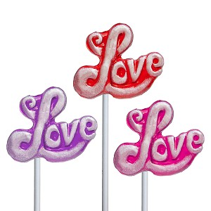 Frosted Love Lollipops: 24 Pack