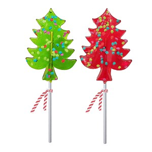 Pointy Holiday Tree Lollipops: 12 Pack