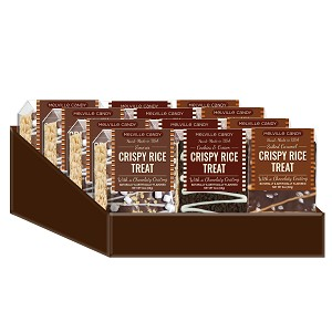Assorted Chocolate Rice Treat Bars: 12 Pack Caddy Display