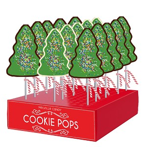 Rainbow Classic Holiday Tree Lollipops: 24 Pack Display