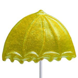 Glitter Umbrella Lollipops: 24 Pack