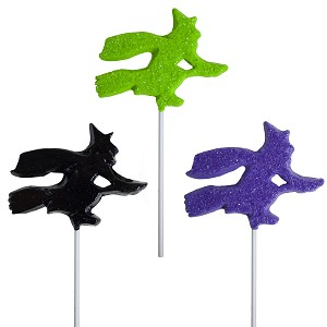 Sanded Witch Lollipop Assortment: 24 Pack