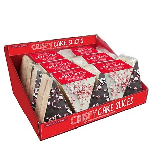 Peppermint Chocolate Rice Cake Slice: 15 Pack Caddy Display