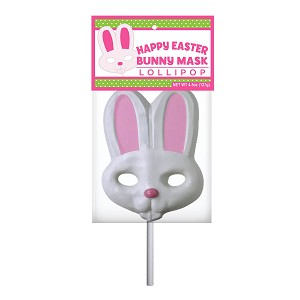 Giant Bunny Lollipop Masks: 6 Pack w/ Peg Tag