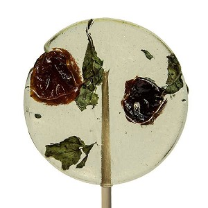 Mint & Tart Cherry Natural Lollipops: 12 Pack
